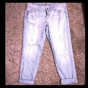Hollister boyfriend distressed jeans